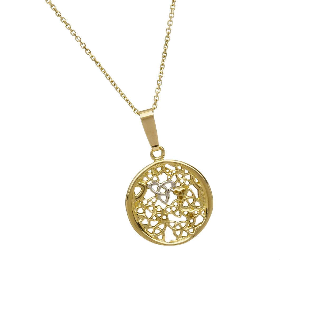 10 carat circular trinity knot pendant