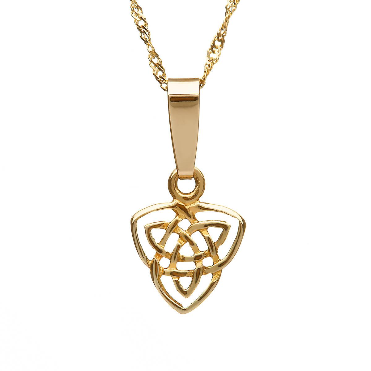 "10ct Trinity Knot Pendant 18"" Chain"