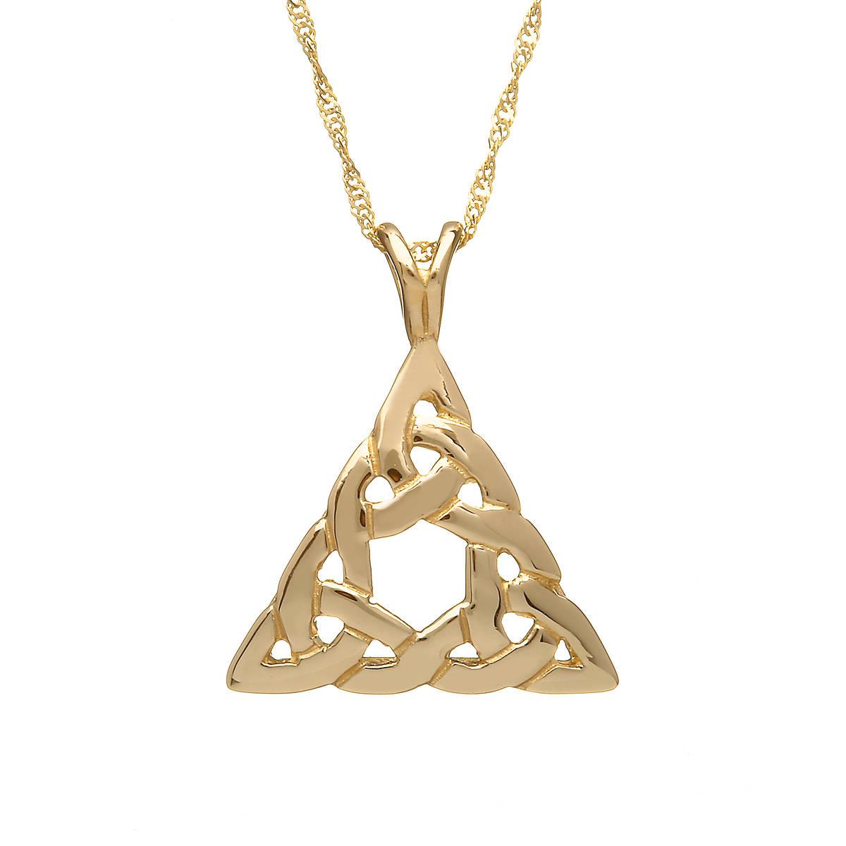 10 carat Gold Celtic Triangle Pendant