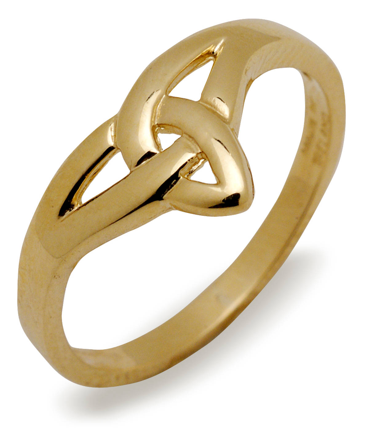 10 carat yellow gold trinity knot ring