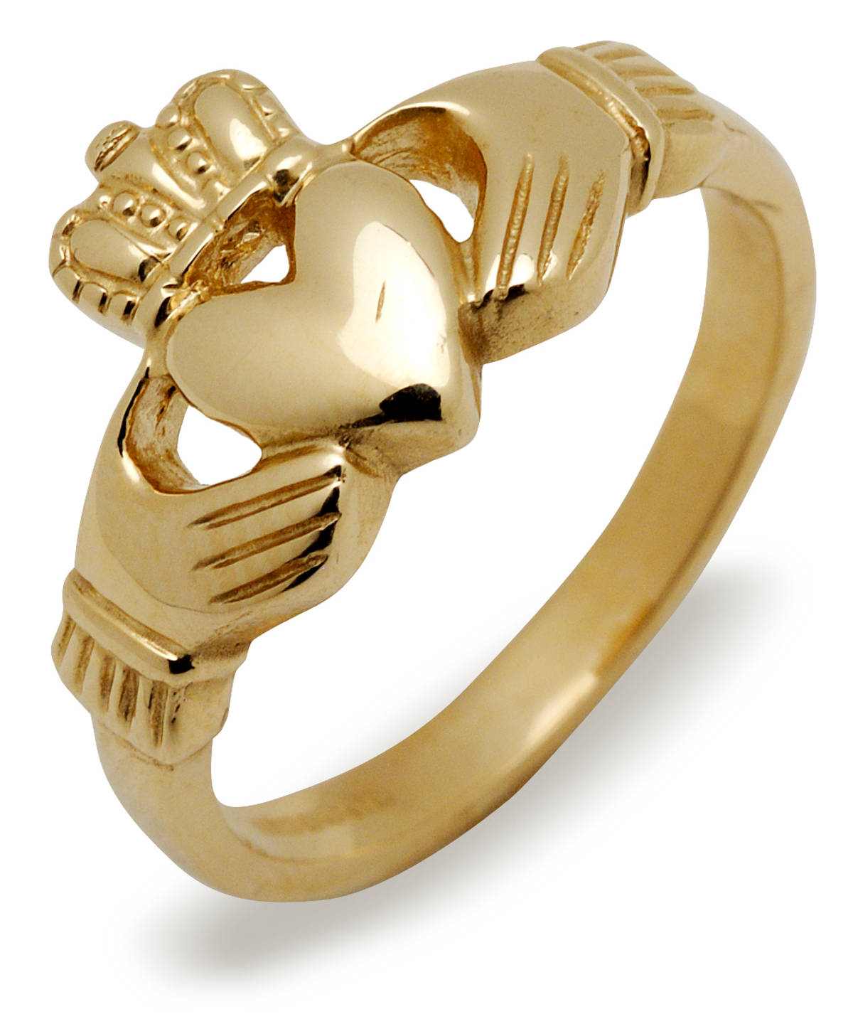 10 carat yellow gold (or white gold) Claddagh ring