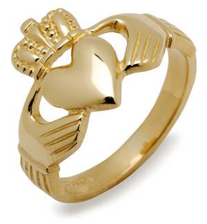 14 carat yellow gold heavy Claddagh ring