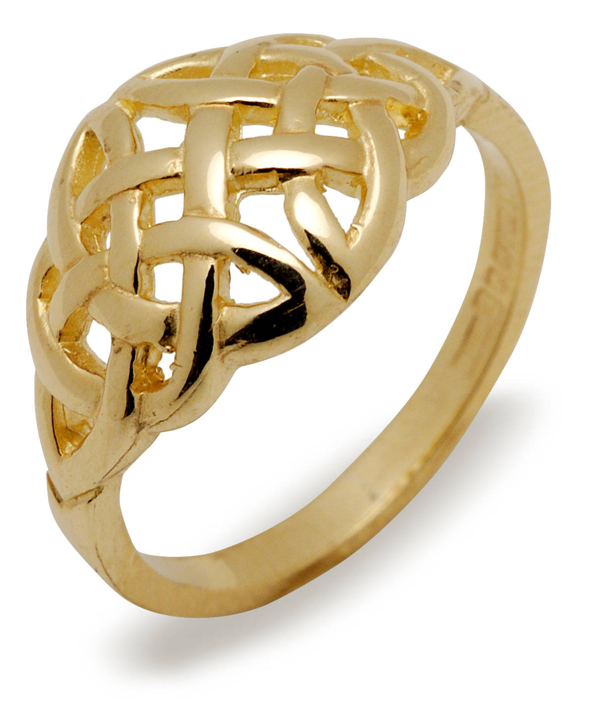 10 carat Yellow Gold Ladies Domed Celtic Knot Design RING