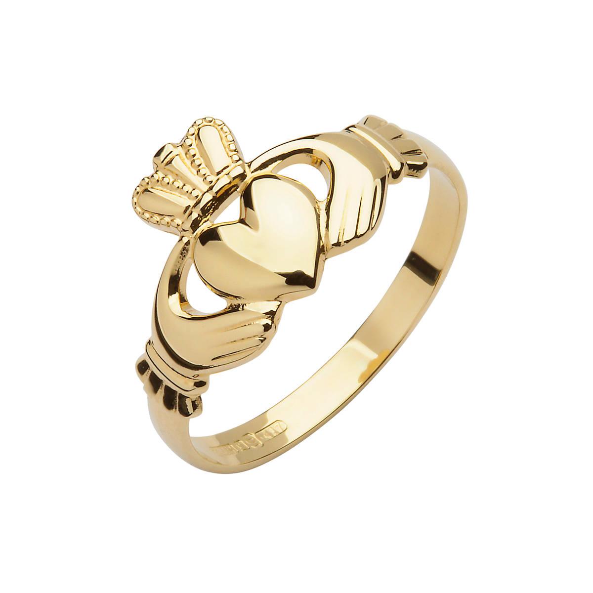 10 carat Die Struck Claddagh Ring