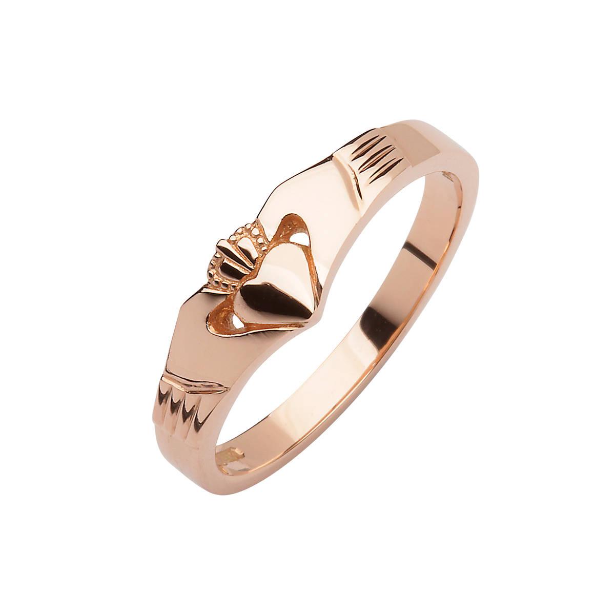 Rose Gold Elegance Claddagh Ring