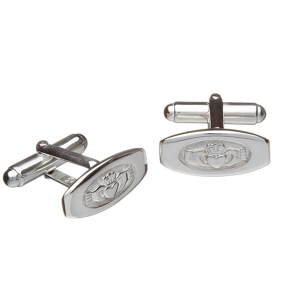 Silver claddagh cufflinks