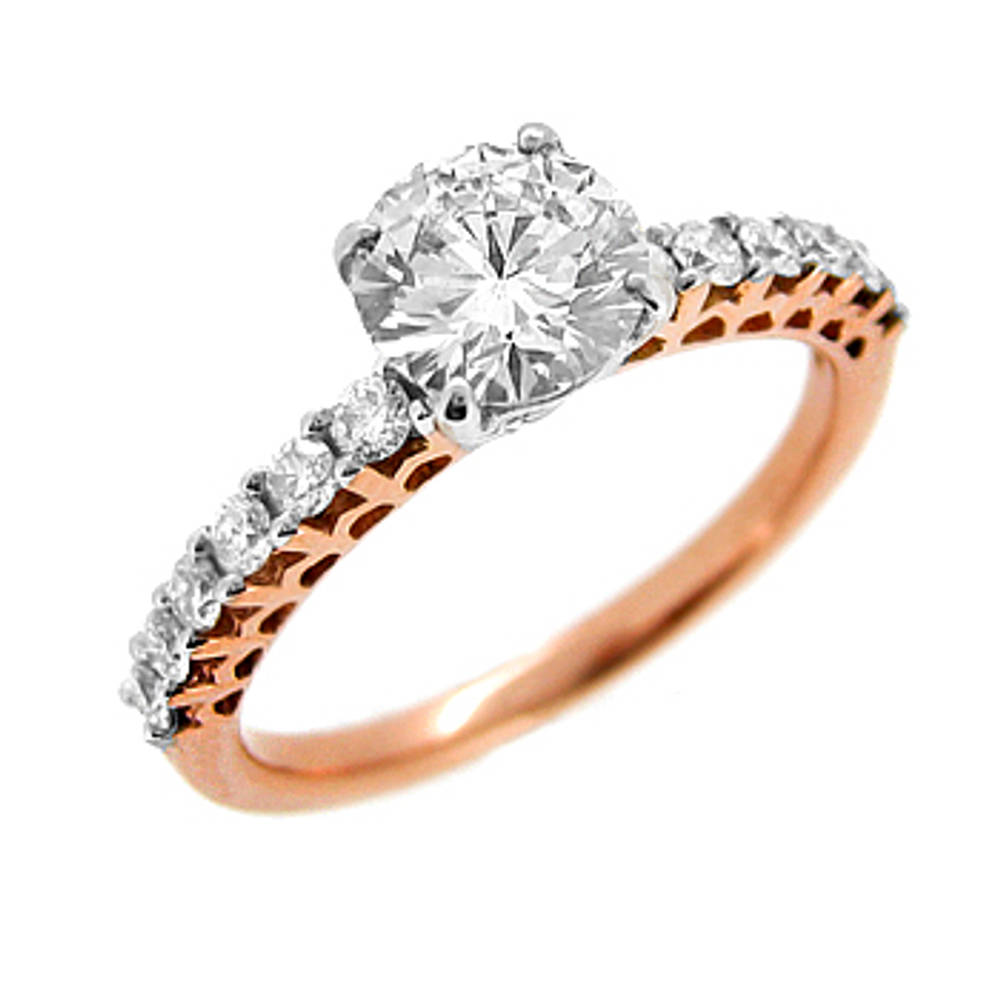 18 ct rose gold diamond solitaire engagement ring