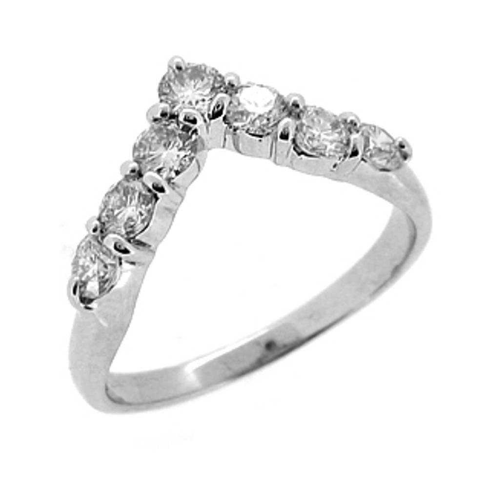 Diamond Wishbone Ring
