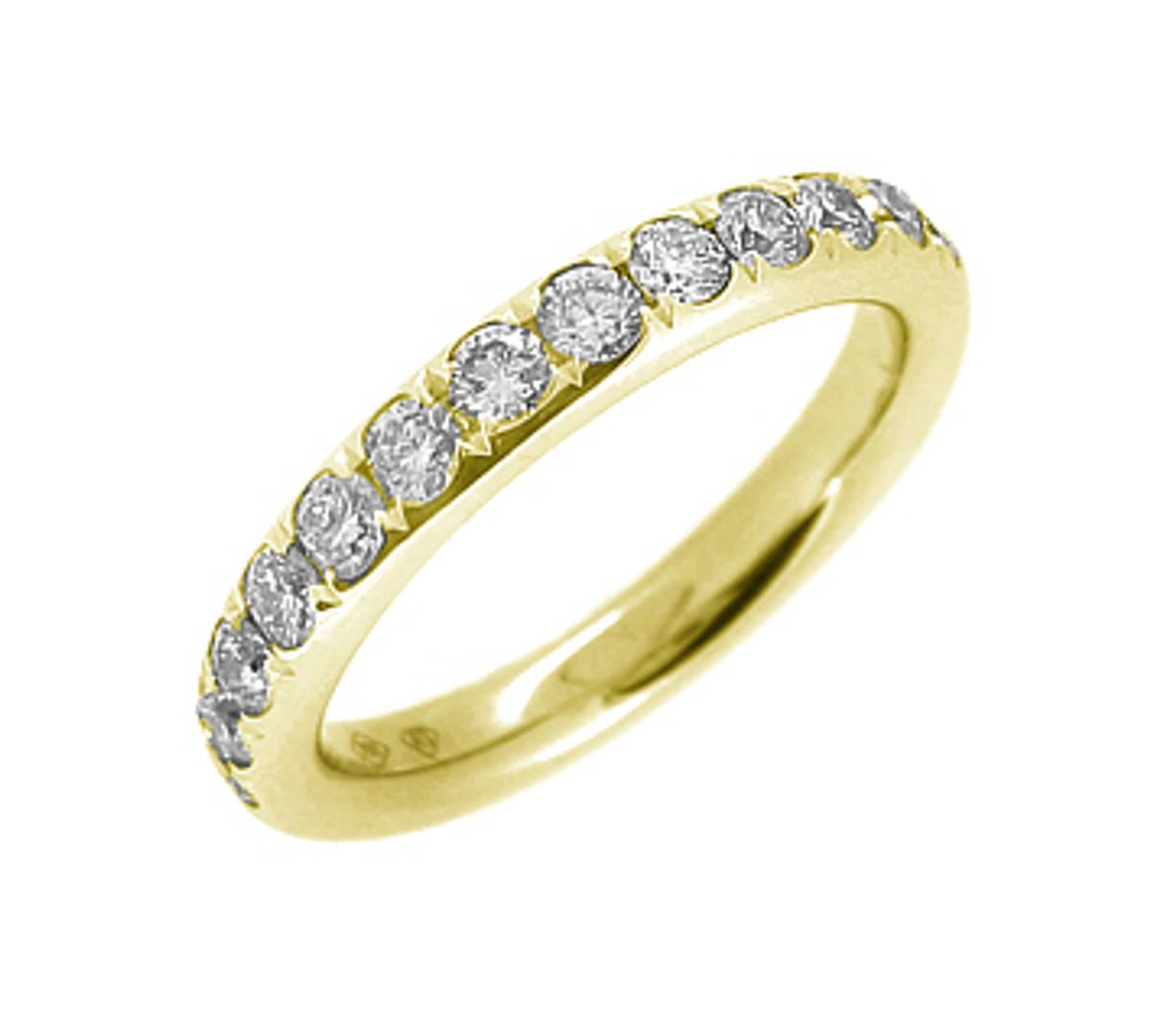 18k yellow gold brilliant cut diamond eternity ring Carat: total diamond weight 0.43cts Metal: 18k yellow gold