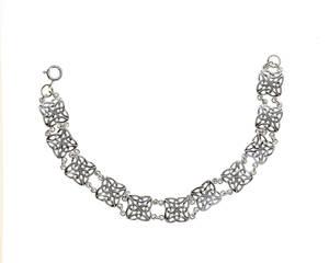 Silver Square Trinity Design Bracelet