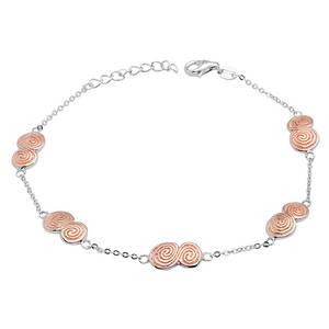Silver Five Celtic Chain Bracelet