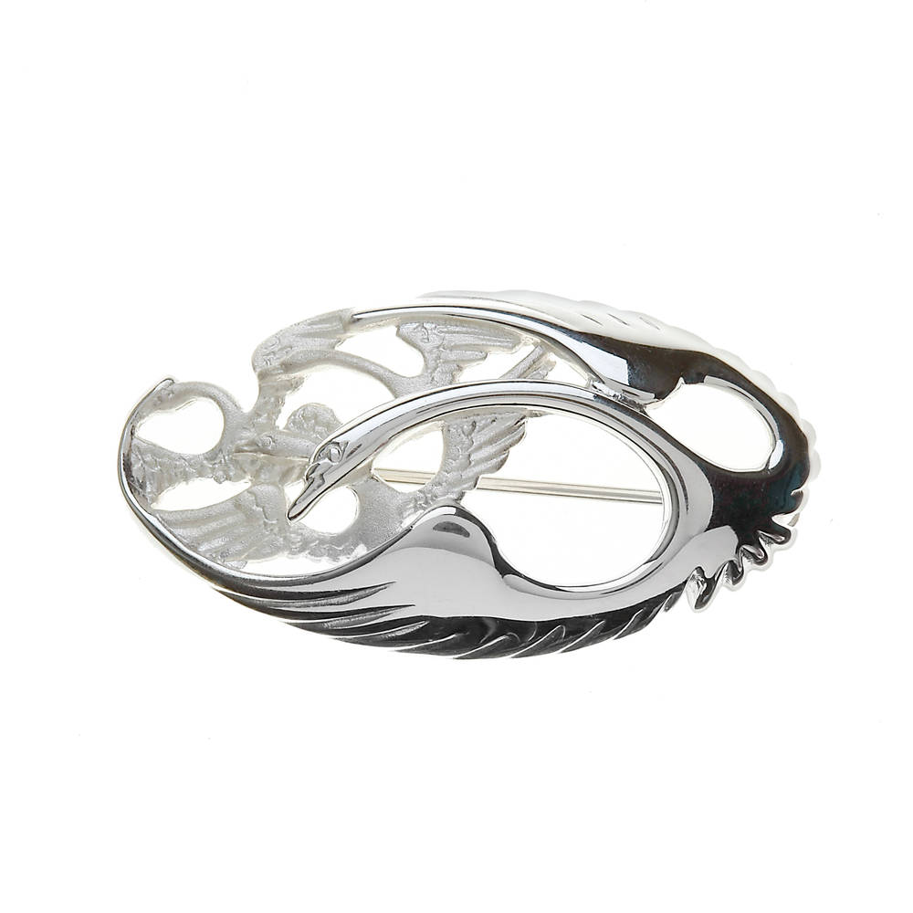 Silver Classic Oval Children of Lear Brooch