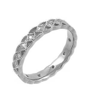Diamond Celtic Wedding Band