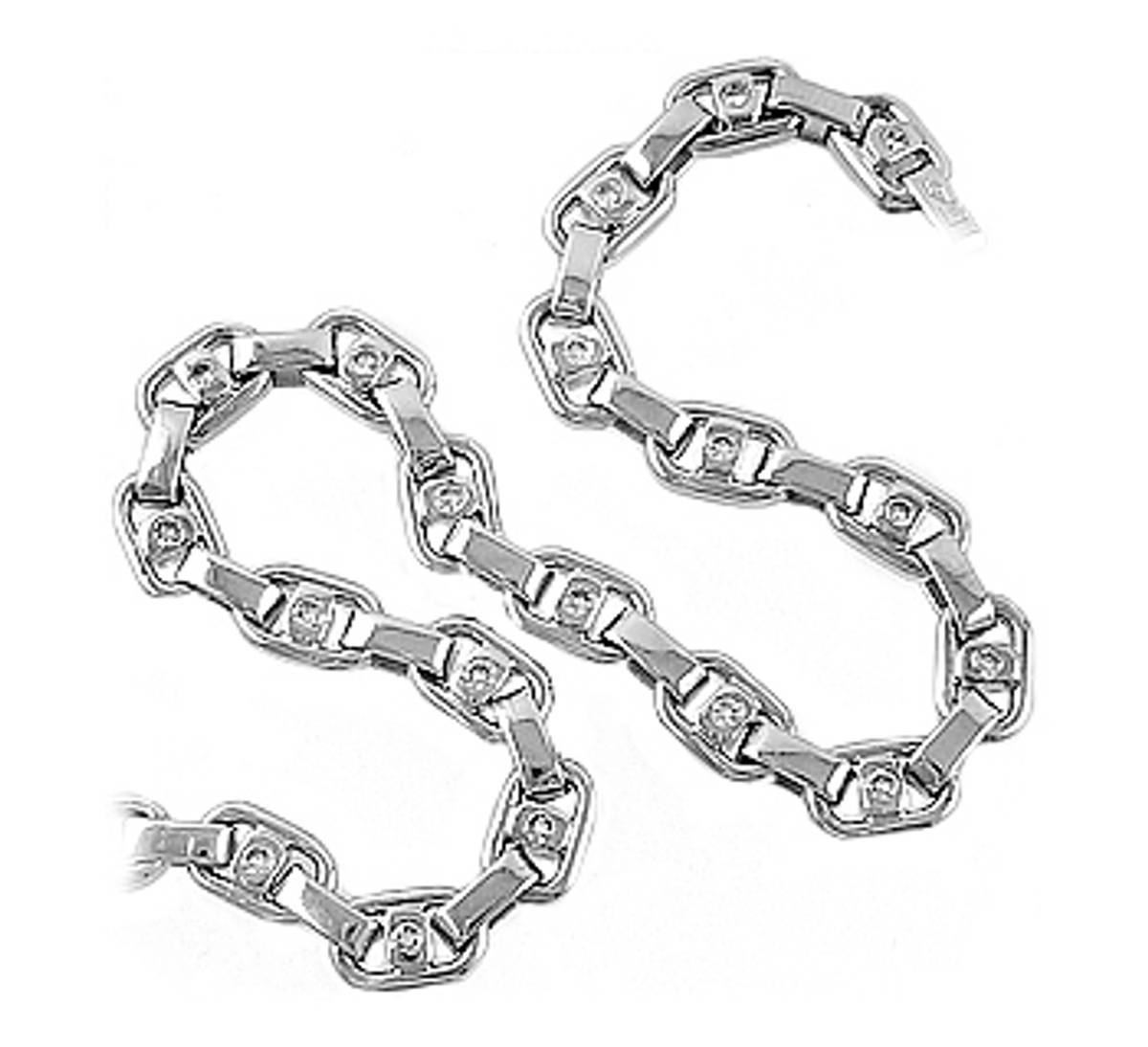 18 carat white gold bracelet with 0.40cts diamonds