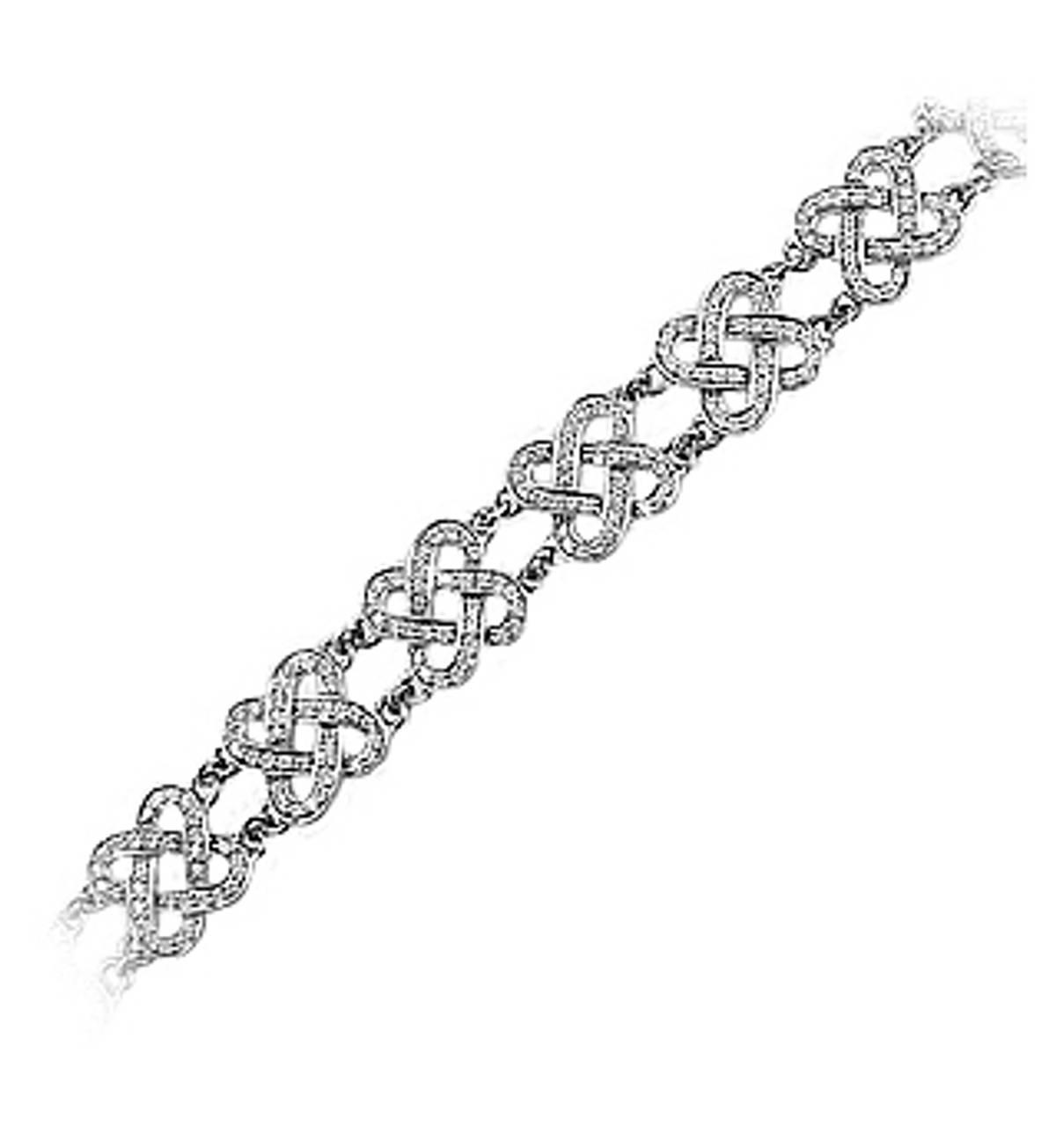18 carat white gold bracelet with 2.00cts diamonds