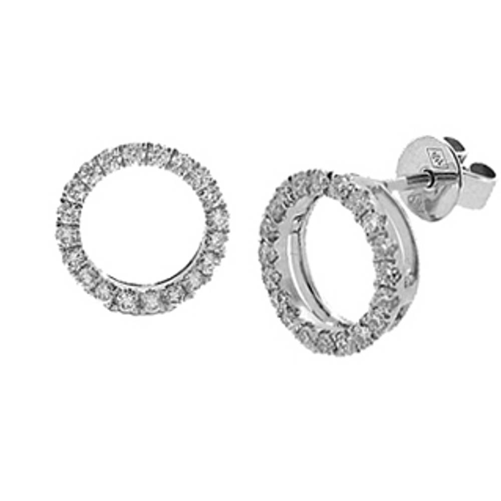 Diamond Circle Stud Earrings