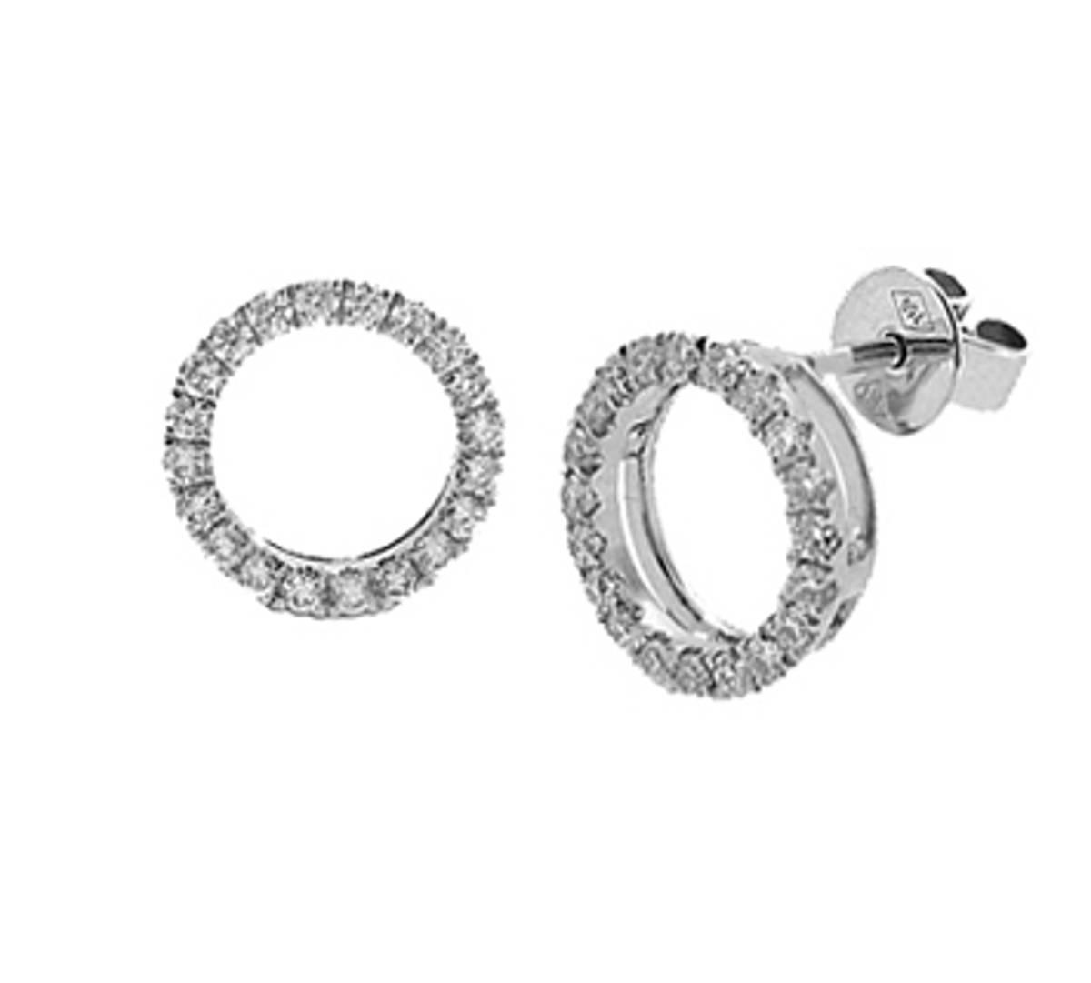 18k white gold brilliant cut diamond stud ringDETAILStotal diamond weight 0.38cts18k white gold