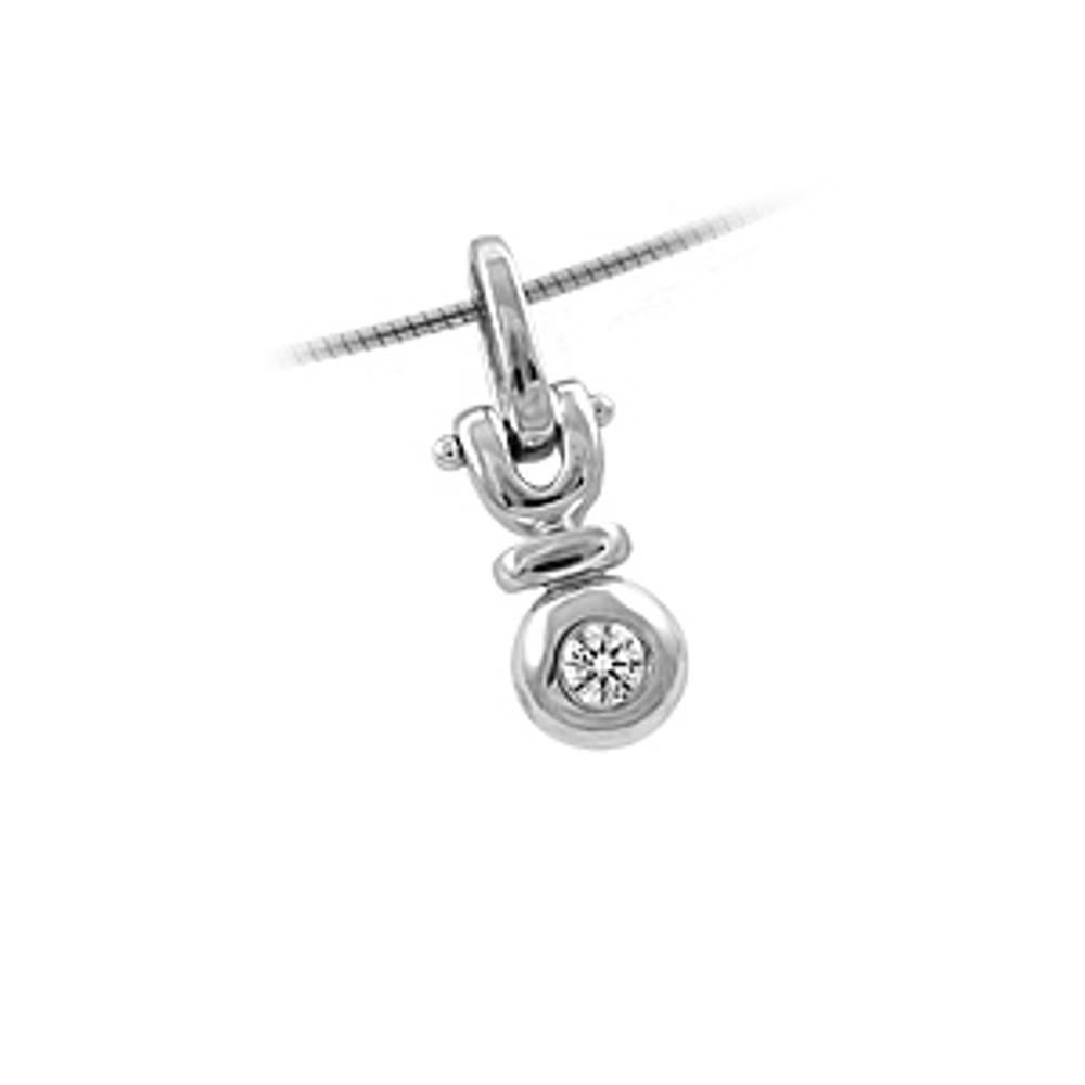 Diamond rubover set pendant