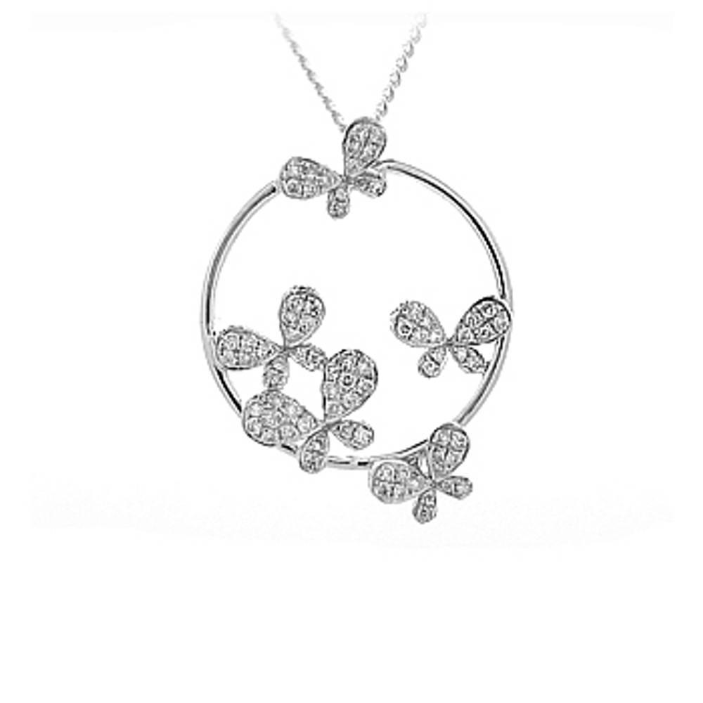 Diamonds Butterfly Pendant