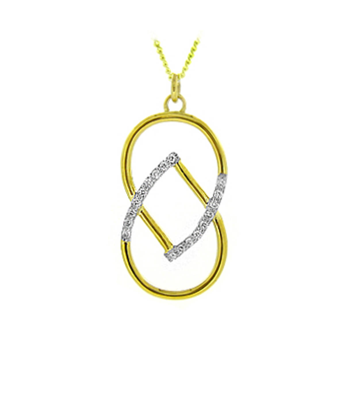 18 carat yellow gold 0.22cts diamonds pendant