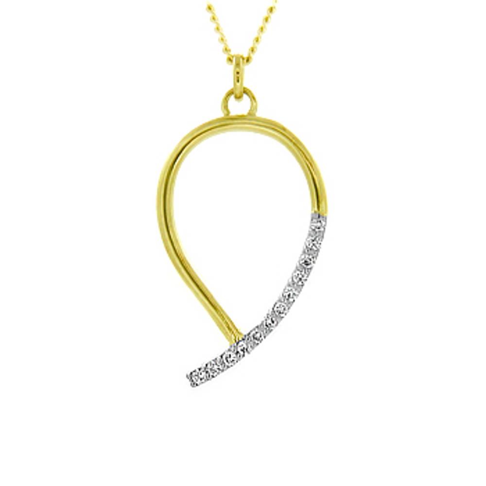 18 carat yellow gold pendant with 0.18cts diamonds