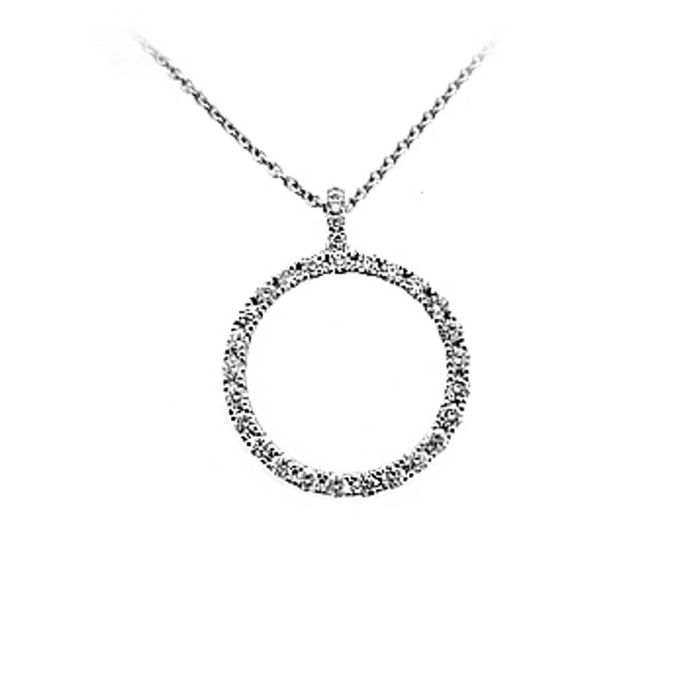 18 carat white gold pendant with 0.65cts diamonds.