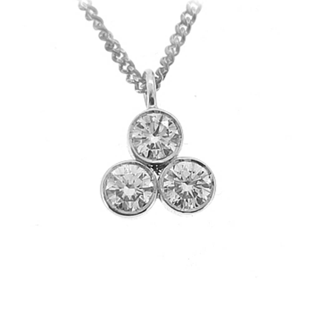 3 Stone Diamond Pendant