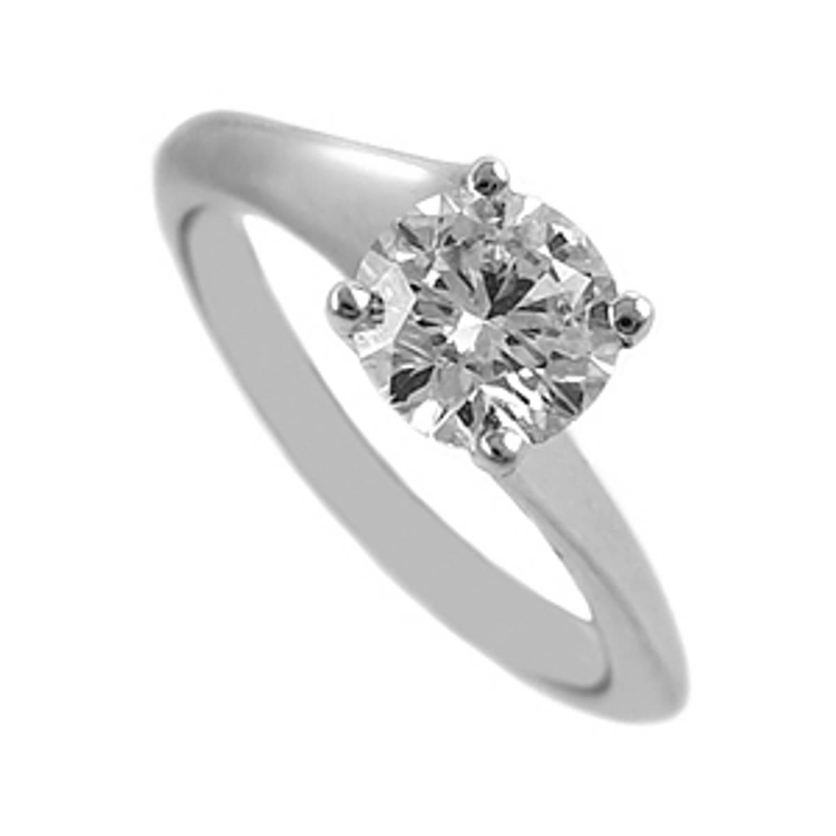 Irish made0.80ct brilliant diamond ring set in 18ct white gold
