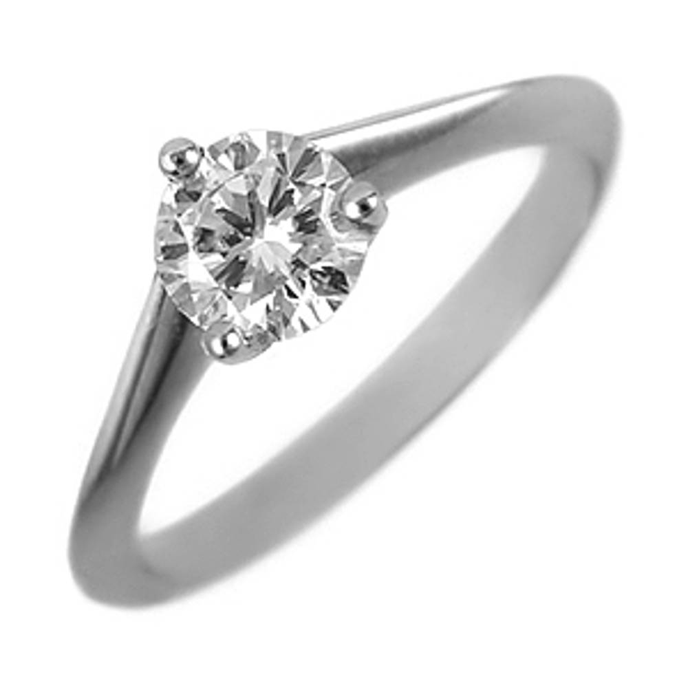 0.40ct brilliant diamond engagement ring set in 18 carat white gold