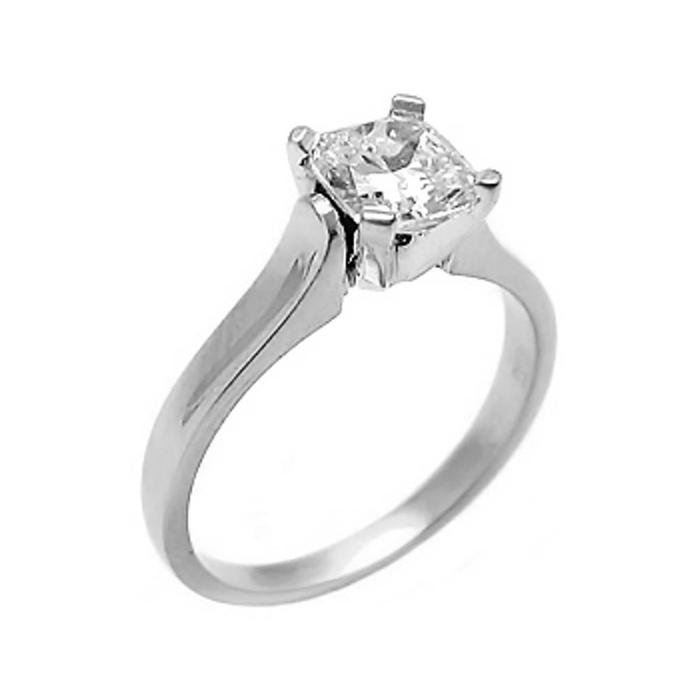 1.04carat cushion shape diamond ring set in 18ct white gold