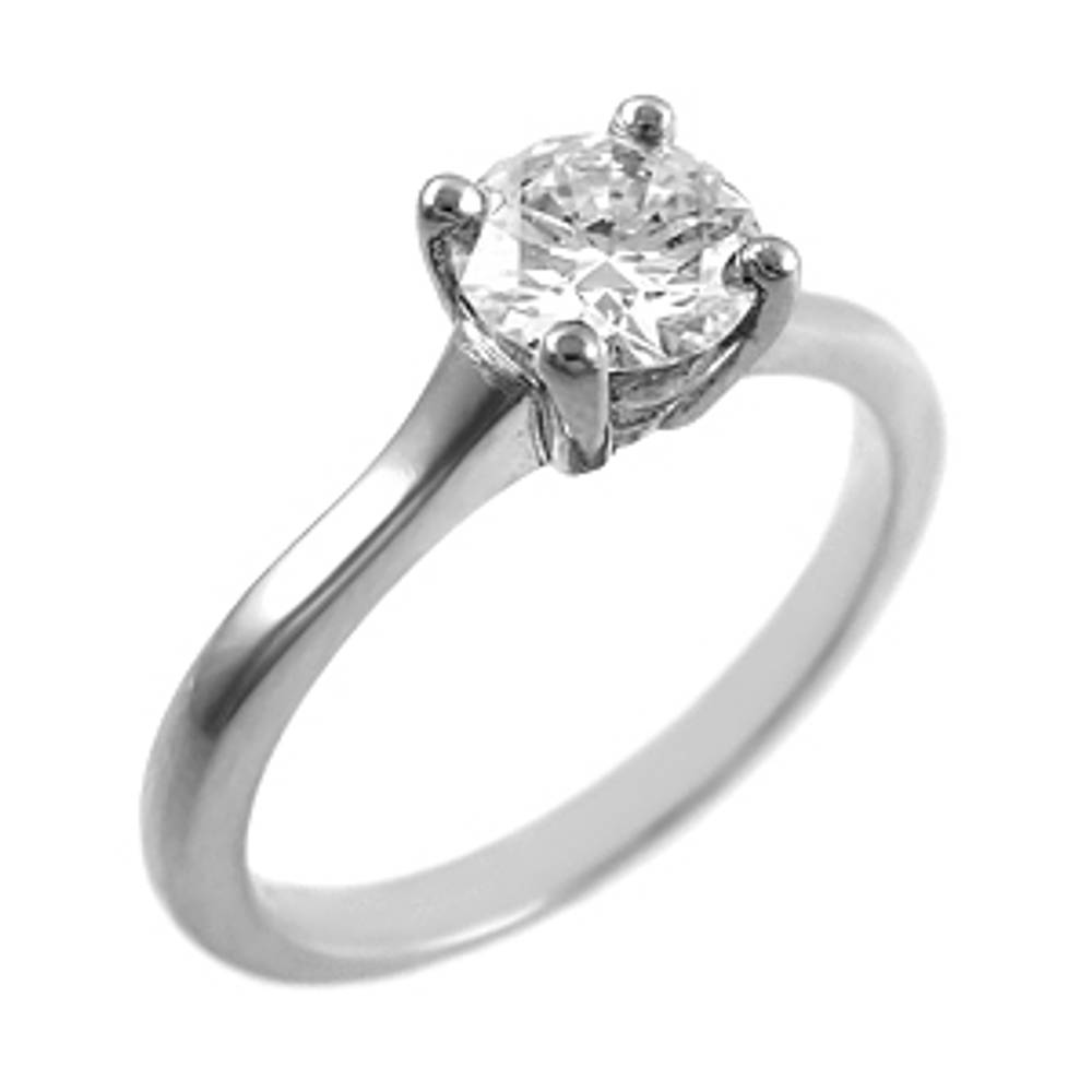 0.66ct brilliant cut diamond ring set in platinum