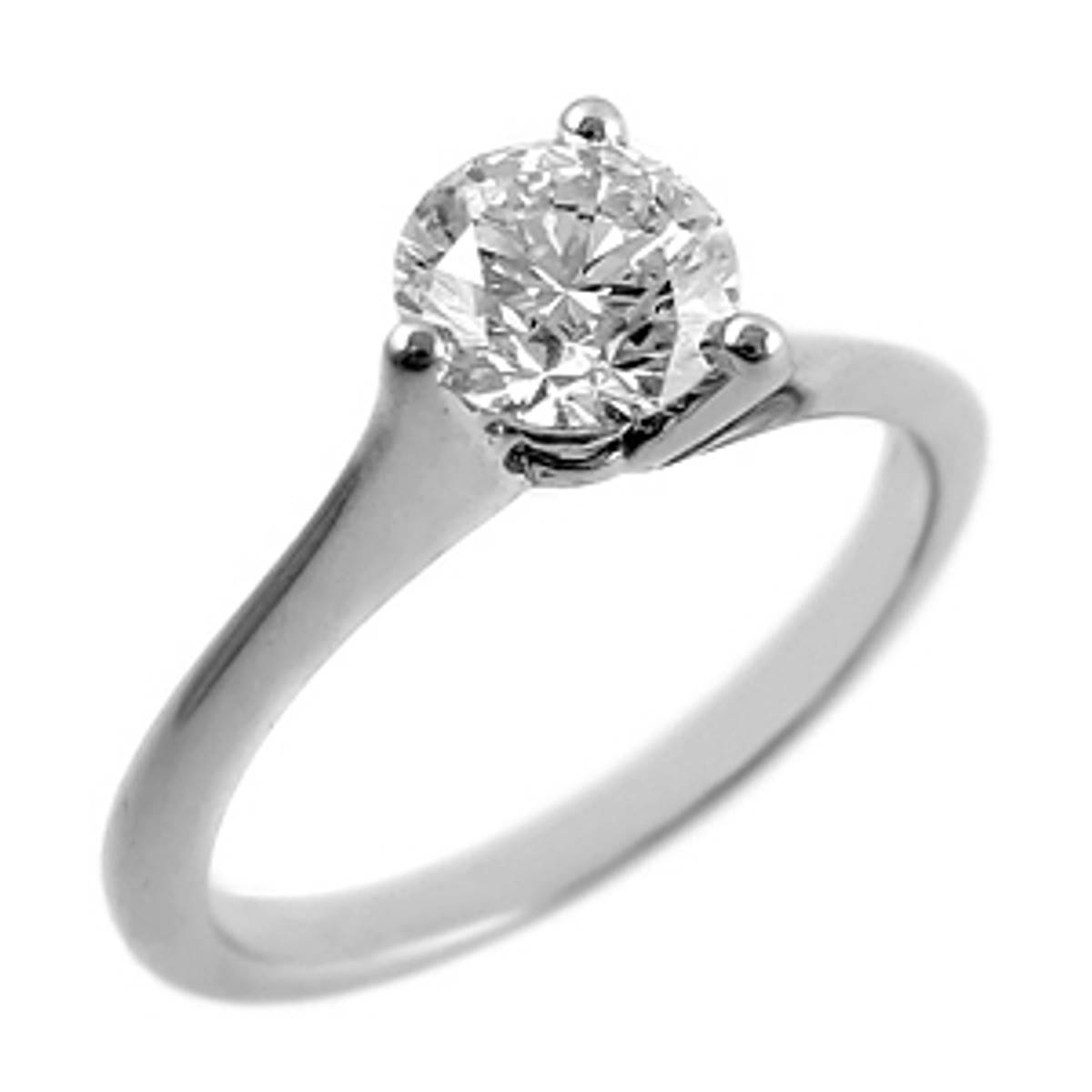0.45ct brilliant diamond engagement solitaire ring set in 18ct white gold