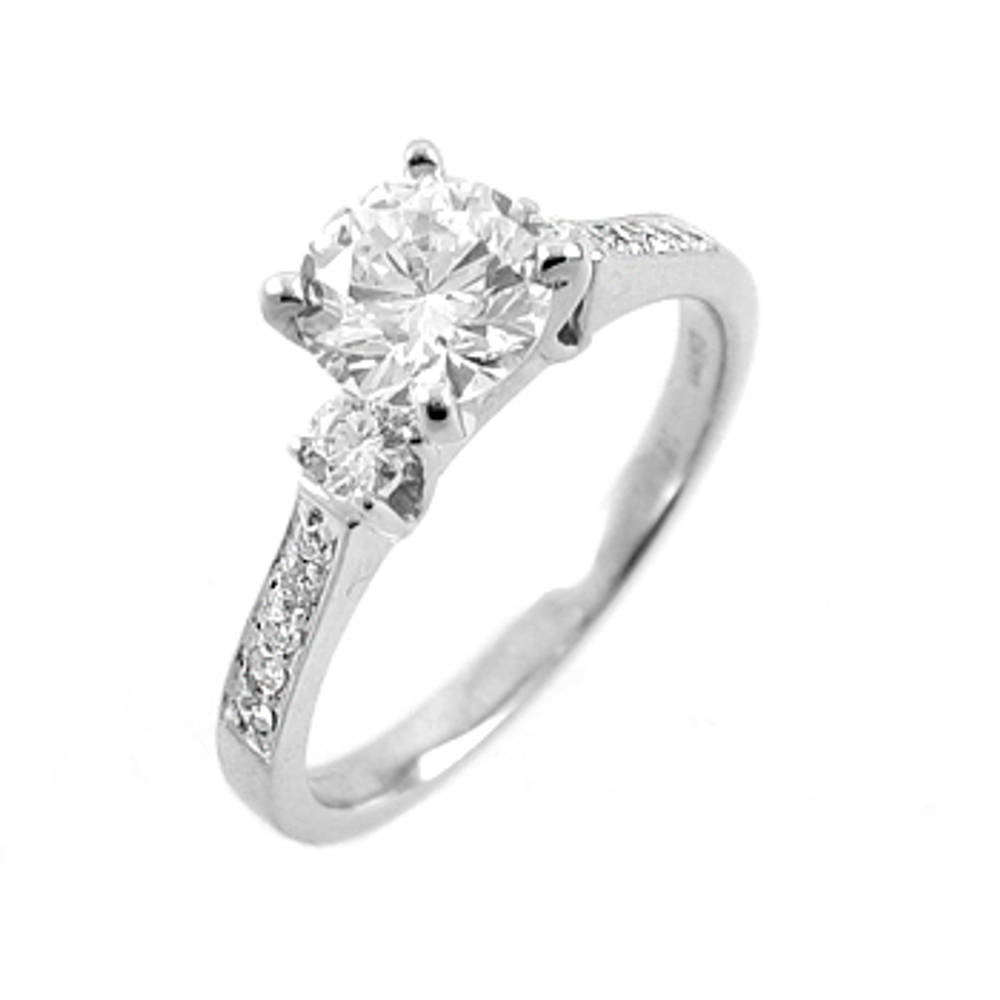 0.40ct/0.20ct diamond solitaire engagement ring