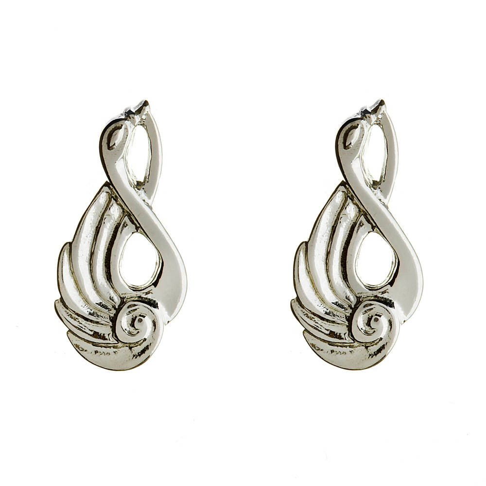 Silver children of lir earrings