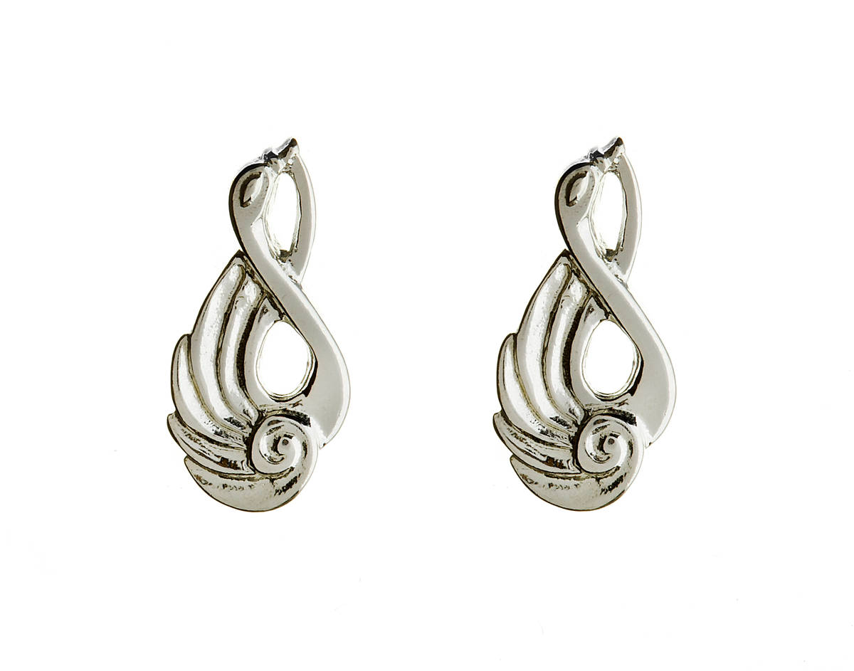 Silver children of lir earrings