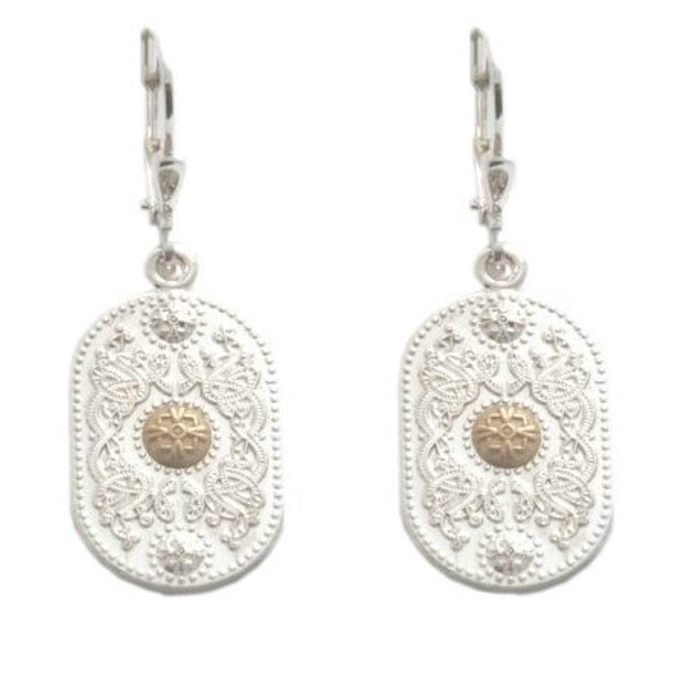 Silver Arda drop earrings