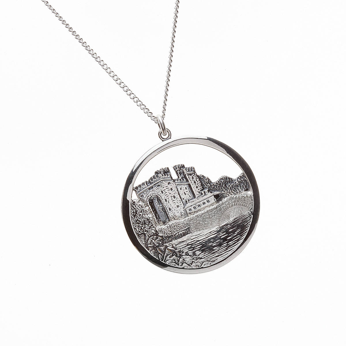 Silver Irish Bunratty Castle Pendant
