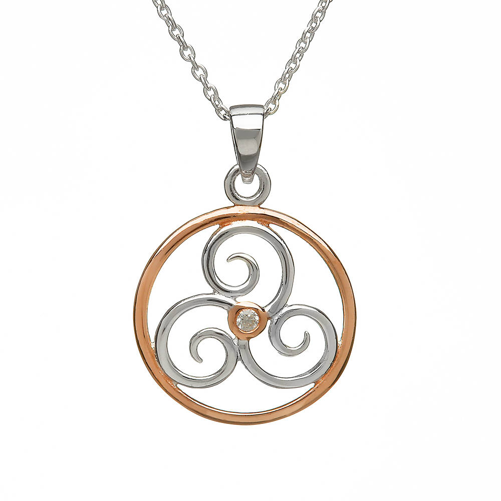 Silver Circle With Cz Pendant