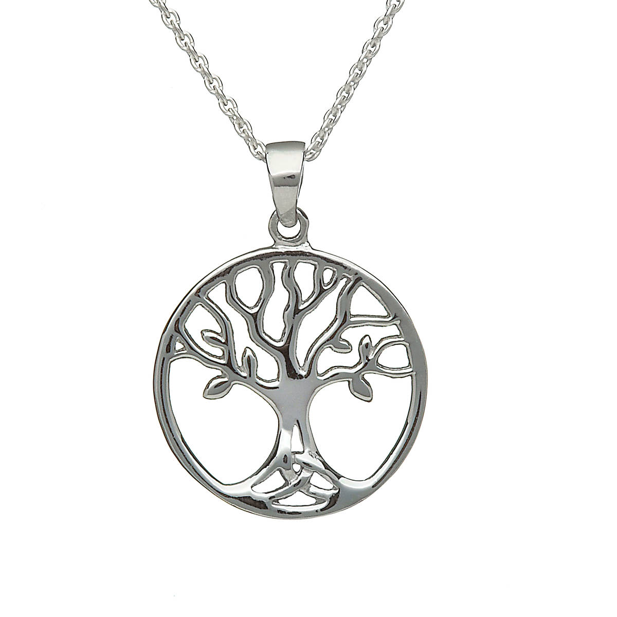 Silver Open Tree Of Life Pendant