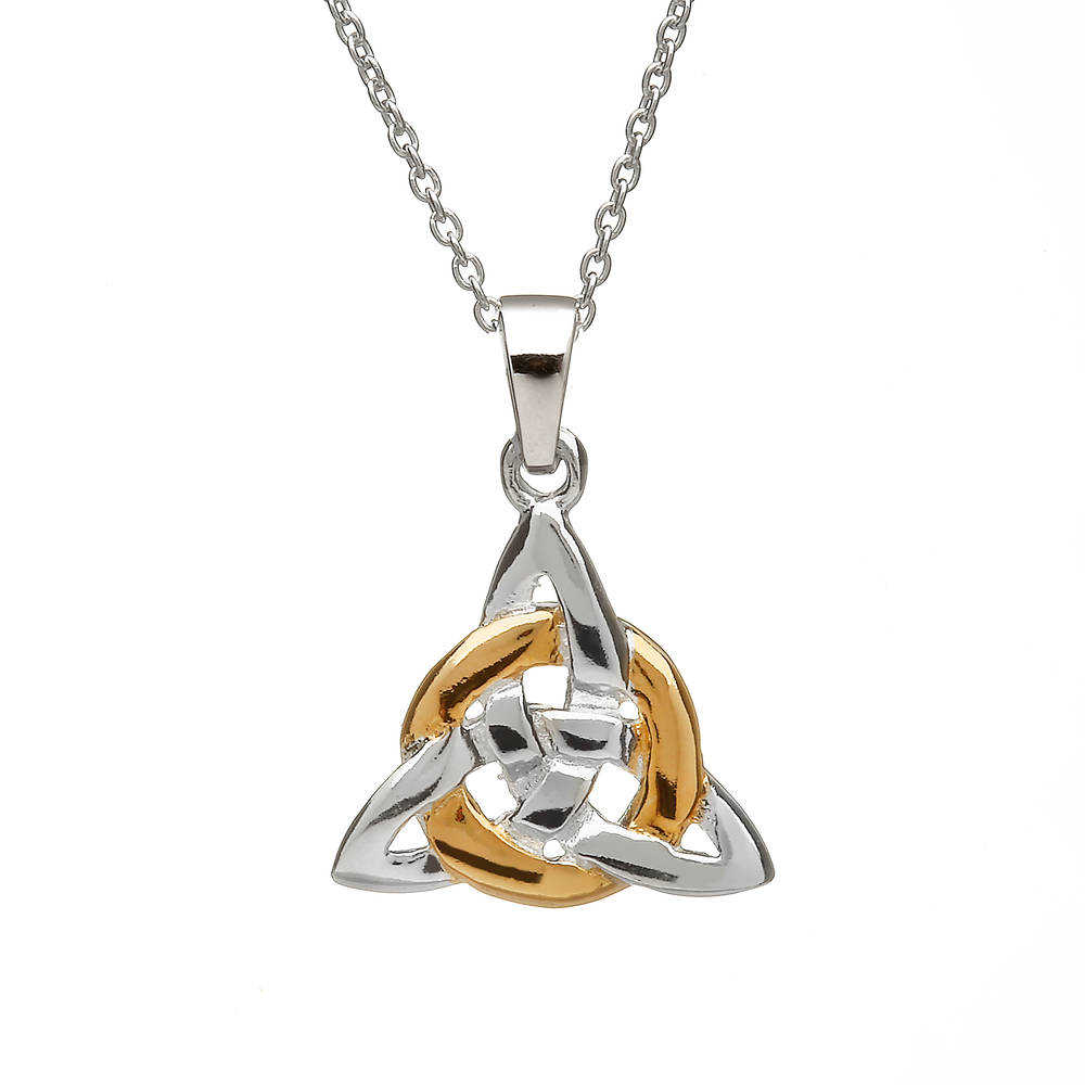 Silver Trinity Knot Gp Circle Pendant