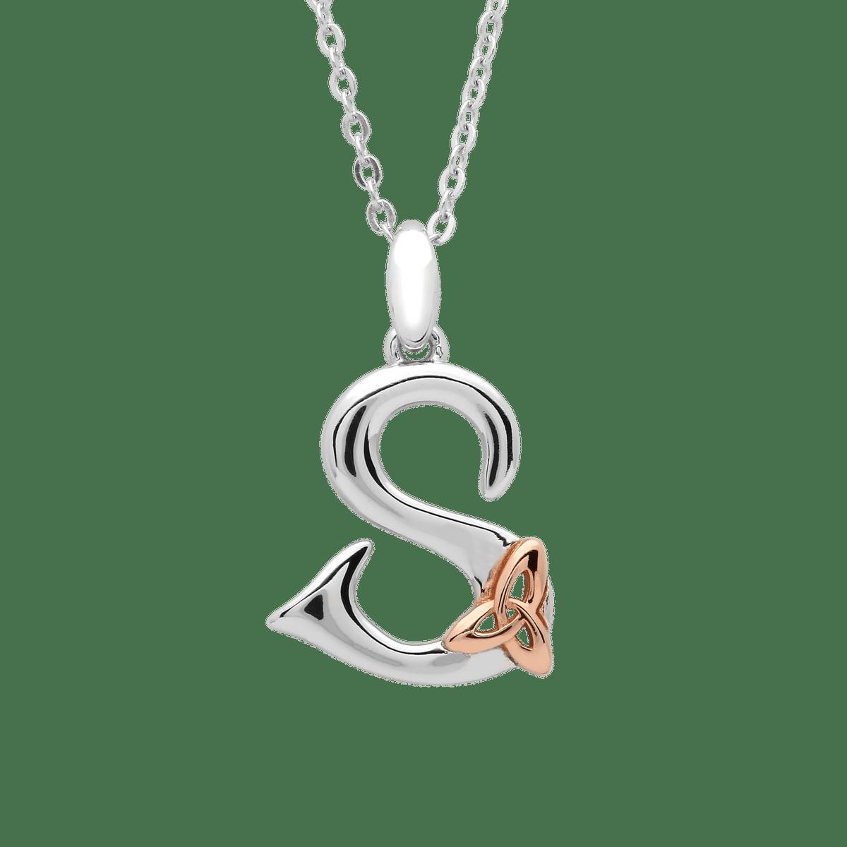 Silver Celtic Initial S Pendant