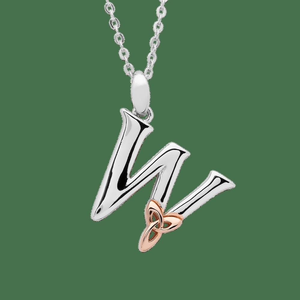 Silver W Pendant