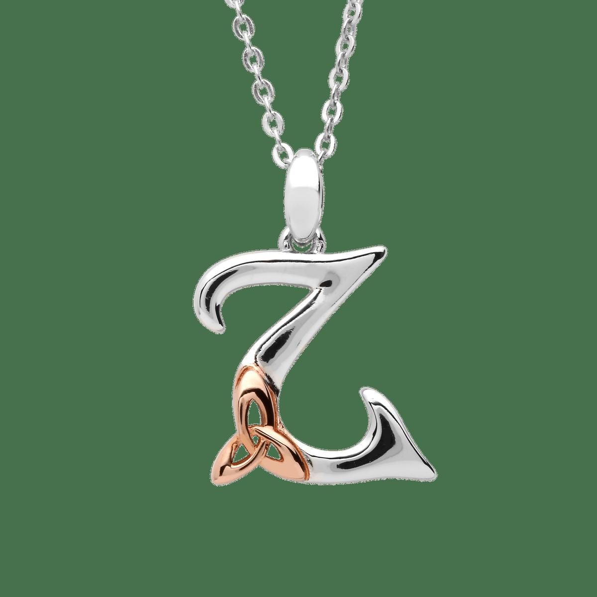 Silver Initial Z Pendant