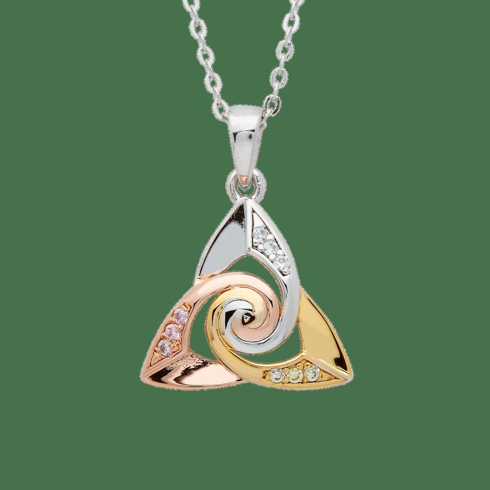 Silver Trinity Spiral Centre Pendant