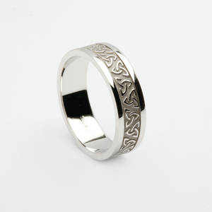 10 carat white gold man's Celtic knot wedding ring