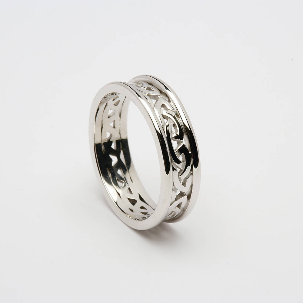 platinum lady's Celtic open knot wedding ring