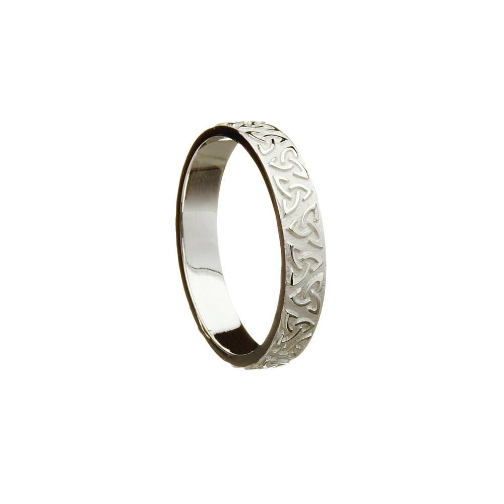 Platinum lady's Celtic raised knot ring.