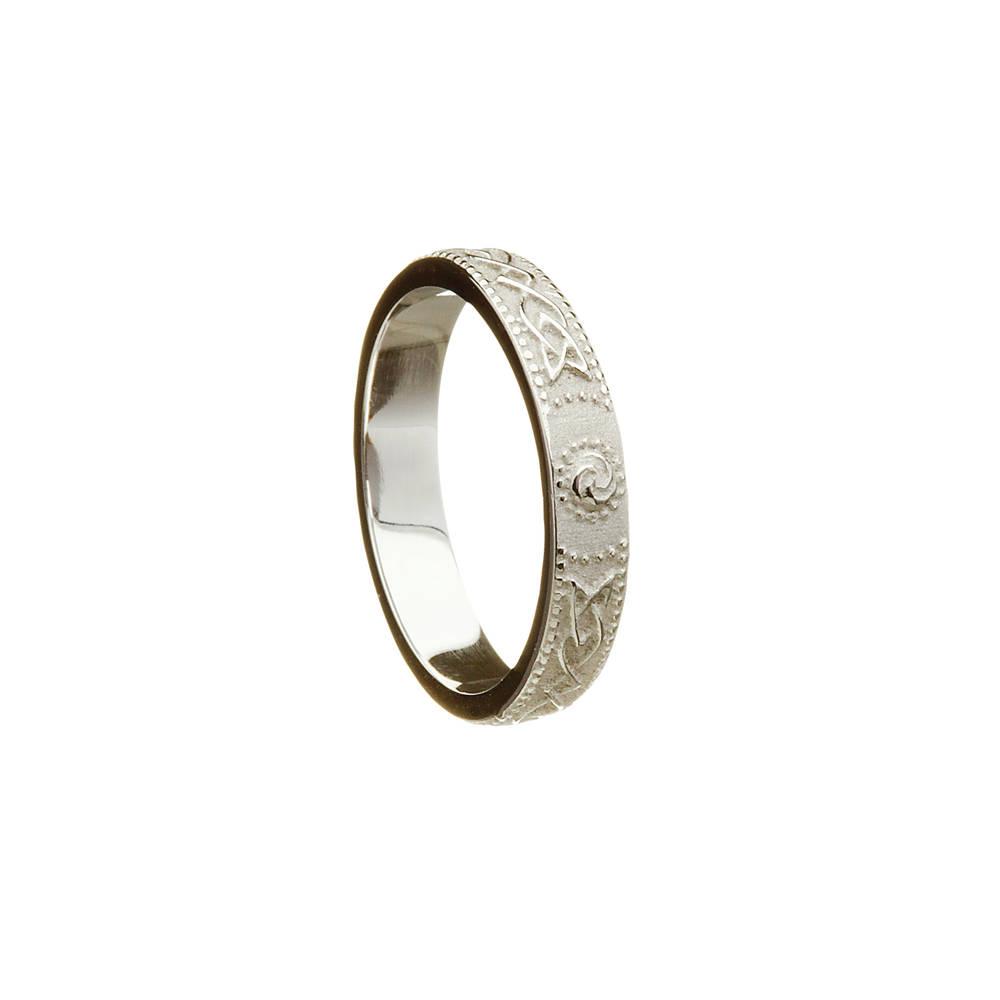 10 carat white gold lady's Celtic warrior ring