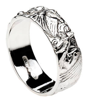 Silver Children Of Lir Ring