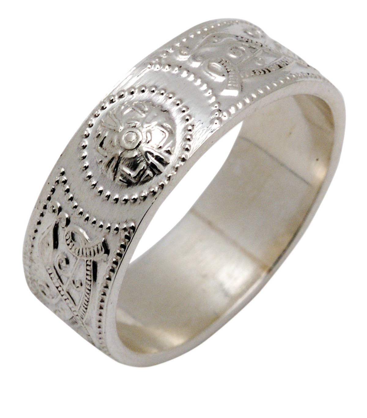 Silver Arda inspired shield ring.Great Value